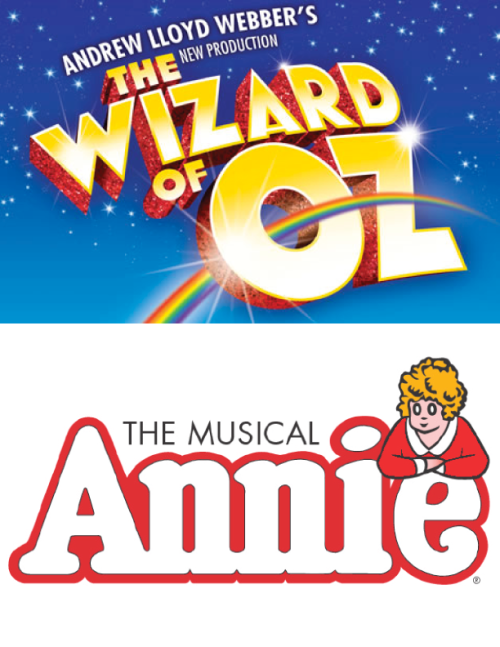 Wizard of OZ and Annie show